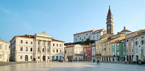 Il punto di riferimento più ovvio di Pirano è la suggestiva Piazza Tartini